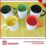 Caneca de café cerâmica colorida com cópia do Sublimation