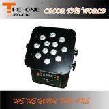 La IGUALDAD con pilas de Rgbwauv 6in1 LED puede
