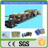 SGS genehmigte Rolle, die den quadratischen unteren Papierbeutel herstellt Maschine führt
