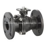 Investissement du robinet à tournant sphérique d'acier du carbone de bâti avec le traitement de verrouillage