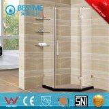 Nueva forma Sanitario diamante sin marco recinto Bisagra de la ducha para el baño (BL-F3501)