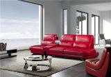 Sofá de couro de sala para casa pequena