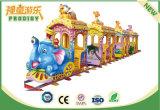 Tren eléctrico de la pista del paseo del Kiddie para el parque de atracciones con 12 asientos