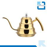 Acqua dell'acciaio inossidabile di figura e caldaia di tè di bambù