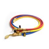 """Yute amarillo/rojo/azul 1/4 """" SAE manguito de carga del gas refrigerante de 600 PSI"""