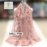 Nuova signora Fashion Silk Scarf di disegno 2018 con lo scialle del fiore da taglio
