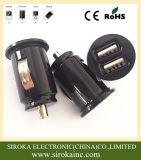 Переходника заряжателя автомобиля USB 2-Port быстрой быстро миниой пули двойной