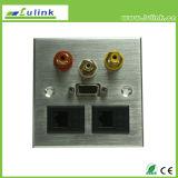 Legering van het aluminium 86 VGA USB van het Type HDMI het Draagvlak van de Plaat van de Muur RCA AV