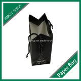 Matt-schwarzer kleiner Papierbeutel für das Verpacken und den Einkauf