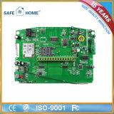 Système d'alarme sans fil de GM/M de numérotage automatique de clavier numérique de contact d'affichage à cristaux liquides de professionnel pour le ménage