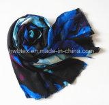 Scarf (HWBVS049)最も売れ行きの良い流行の青い華麗さの印刷のビスコース女性
