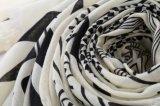 نساء نابض [شفّون] هندسة طباعة شال [سونسكرين] لفاف رأس وشاح ([سو112])