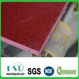 Pierre conçue par quartz rouge fait sur commande de dessus de Tableau dinant d'étincelle