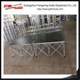 Proveedor de aleación de aluminio de China la fabricación de portátiles de escenario para el rendimiento de la luz de LED
