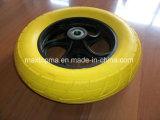350-4 flaches freies PU-Schaumgummi-Rad mit Plastikfelge