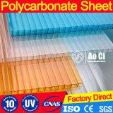 Hoja estable ULTRAVIOLETA del policarbonato de la inflamabilidad inferior