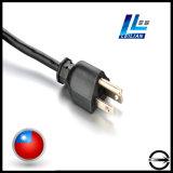 plugue padrão do cabo de potência de 3-Pin Yl014b Formosa para o aparelho electrodoméstico