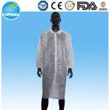Revestimento de laboratório não tecido, vestido de proteção, vestido de trabalho