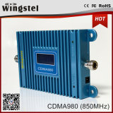 Область покрытия 1000 квадратных метров CDMA 2g 850МГЦ мини-усилителем сигнала с антенны для дома