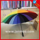 Douane 16 de Paraplu van de Zon van de Regenboog van Ribben