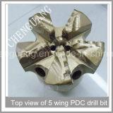 Corpo de aço cinco Asas Diâmetro do côncavo 200mm Broca PDC