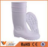 Bottes de pluie de sécurité en caoutchouc PVC couleur blanche