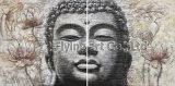 Het Schilderen van de Kunst de Groep van Boedha de Muur hangt