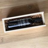 Одиночная коробка подарка бутылки красного вина упаковывая случая деревянная