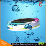 IP68 원격 제어를 가진 다채로운 LED 태양 뜨 수영장 빛