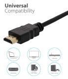 Kabel HDMI Kabel van de Hoge snelheid HDMI van 3 voet de Verguld