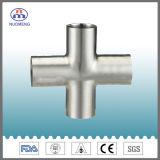 Les mesures sanitaires soudés en acier inoxydable de type court de l'égalité Croix (ISO-No. NM034163)