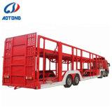 6-8 voitures squelette de transporteur de voiture/voiture transporteur semi-remorque