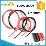4mm2 Mc4 태양 PVC 케이블 TUV&UL-Certifiction Black&Red Mc4X4mm2