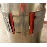 Aquecedor de tambor flexível de borracha de silicone com termóstato
