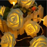 Preço por atacado LED 2m20LED Rose Battery Opearated Fairy Lights for Christmas Decoração do dia dos namorados