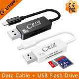 Microsd / leitor de cartão SD + Lightning Data Charging Cable (YT-RC002)