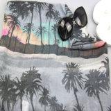 Sciarpa tessuta dell'albero di noce di cocco di stampa di Digitahi per gli scialli della molla dell'accessorio di modo delle donne