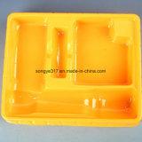Поднос упаковки волдыря электрофонаря PVC желтый