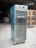 2017 Heet verkoop Kar van het Verwarmingstoestel van het Voedsel van de Deur van het Glas van het Roestvrij staal de Mobiele voor Restaurant