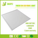 Luz del panel del LED/luz de techo 595*595 48W 100lm/W con TUV, Ce