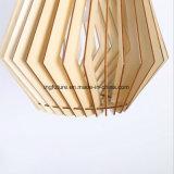 Luz pendente de montagem fácil do diodo emissor de luz do obturador de madeira conciso