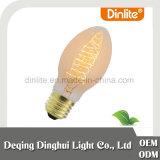 Lampada chiara classica ambrata di figura 60W della pera della Cina C48