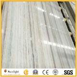 Marbre blanc Hina, dalle de marbre blanc à veine de bois, marbre en cristal bois de marbre