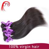 100% соткать человеческих волос Remy девственницы бразильских Silk прямых
