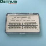 Corchetes del Mbt de la base ortodóntica dental del acoplamiento de Denrum mini con ISO FDA del Ce