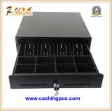 Cassetto nero dei contanti con il piatto superiore d'acciaio Secc all'interno