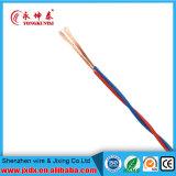 Rvs alambre con aislamiento de PVC doble flexible trenzado eléctrico / Cable de alimentación eléctrica