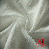Tecido jacquard de poliéster puro branco para vestuário feminino