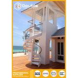 El diseño barato al aire libre de la escalera espiral de Saftly salva el lugar
