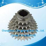 Ruota dentata multipla della rotella Chain delle azione standard dello zinco bianco del motociclo dell'OEM